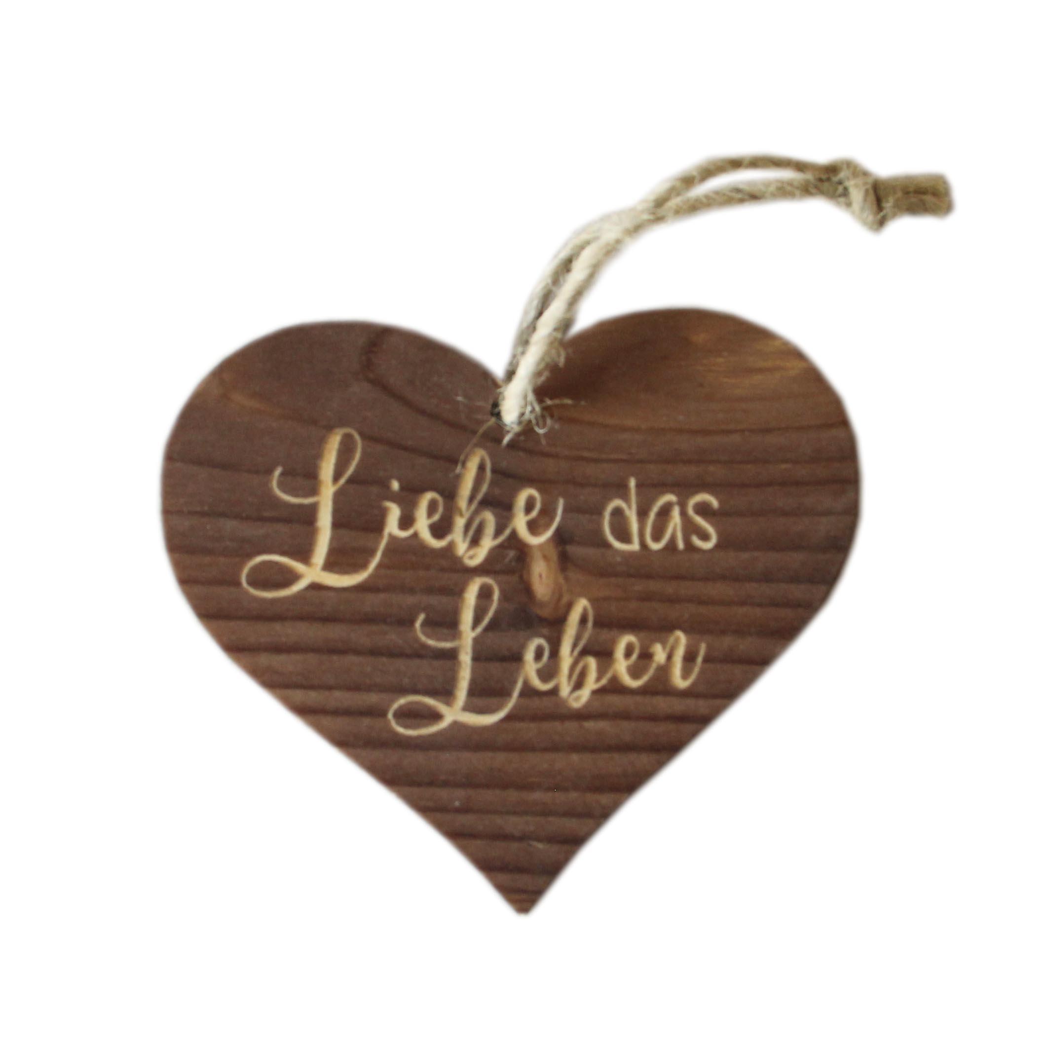 Herzanhänger Liebe das Leben