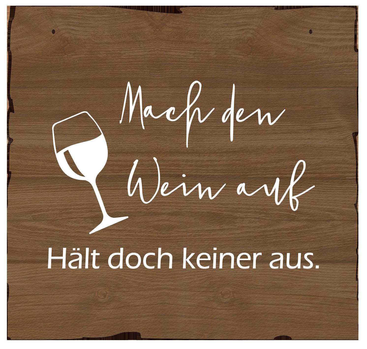 Wandbild Wein aufmachen