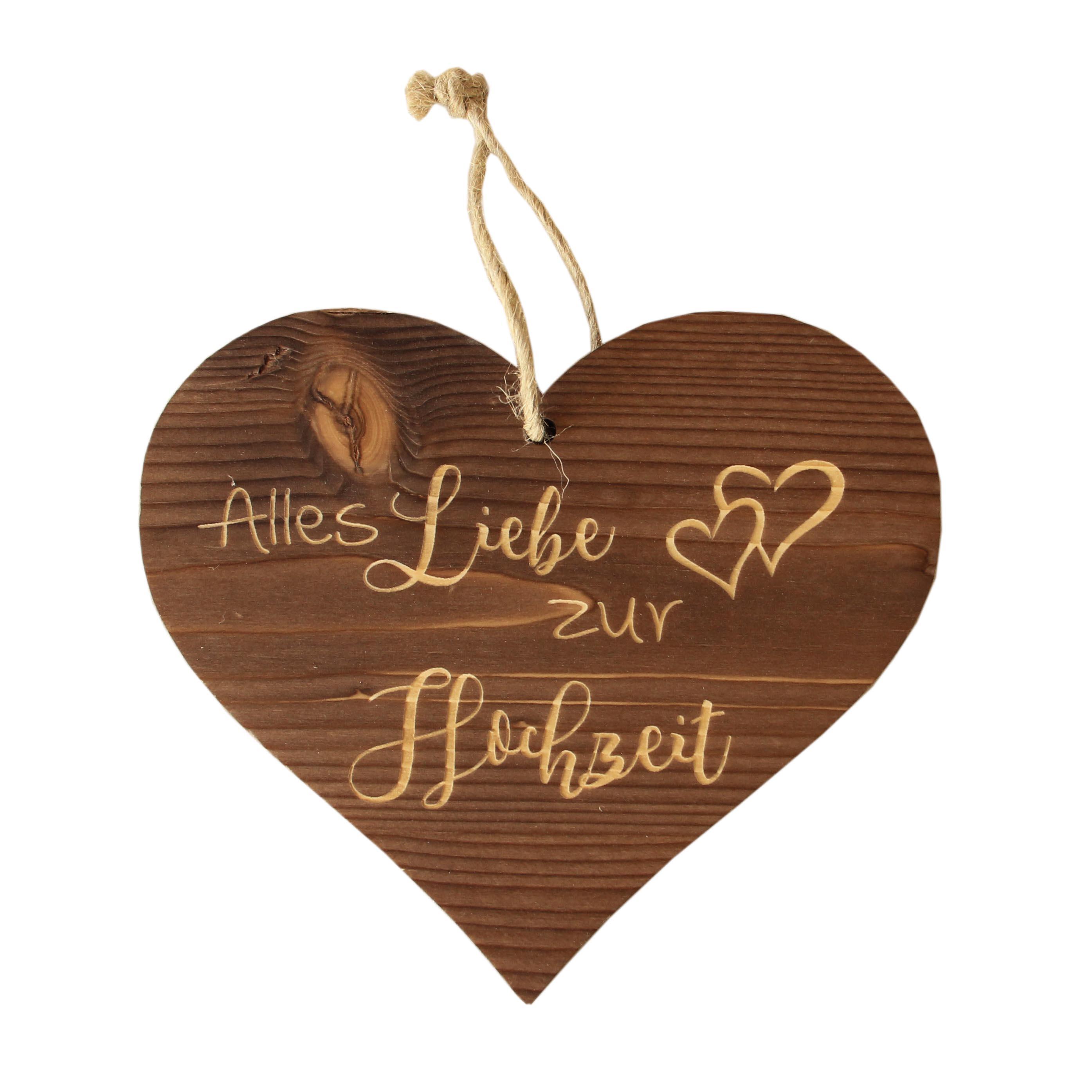 Herzanhänger Alles Liebe - Hochzeit