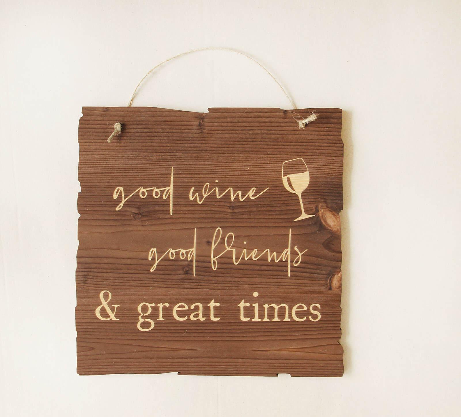 Wandbild good wine & friends