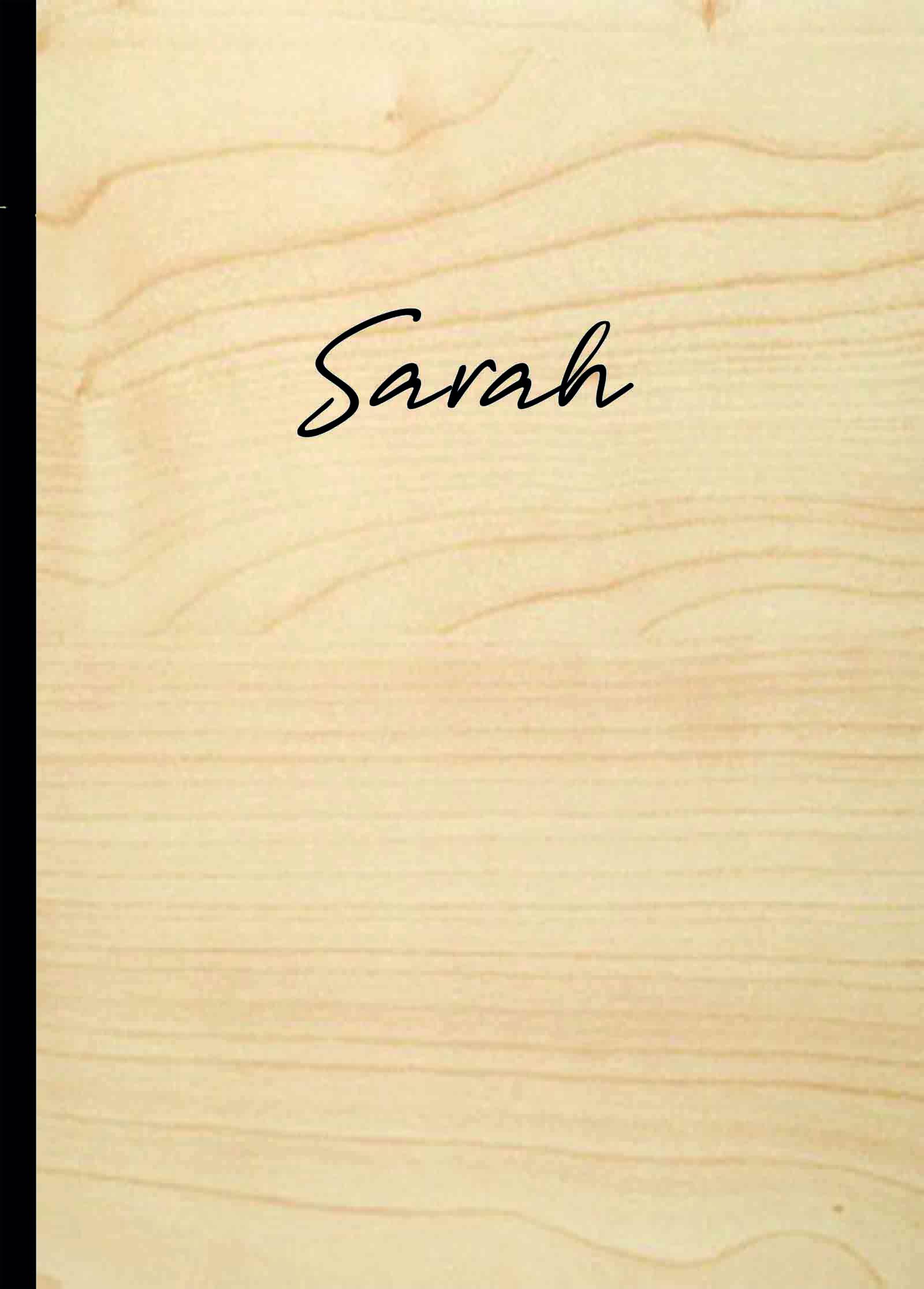 Notizbuch personalisiert Name mittig - Eiche