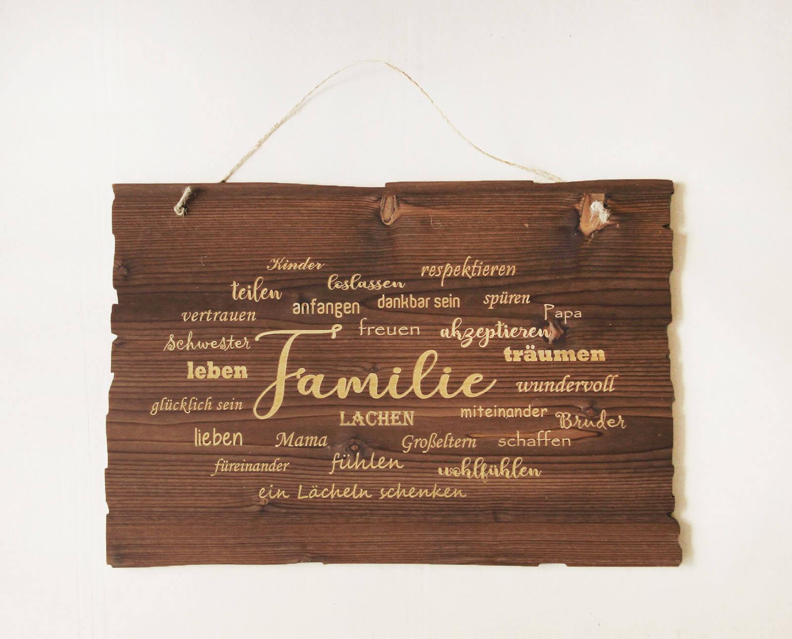 Wandbild Familie