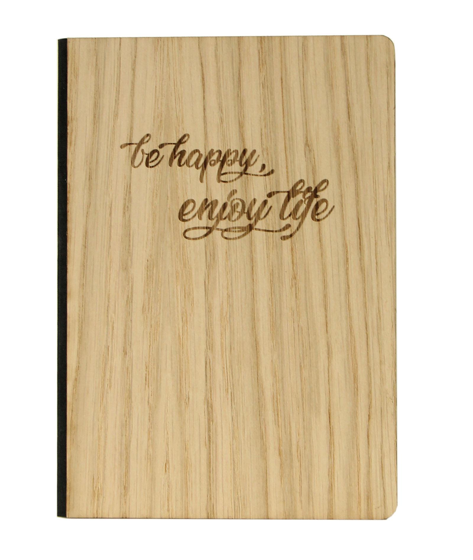 Notizbuch be happy, enjoy life