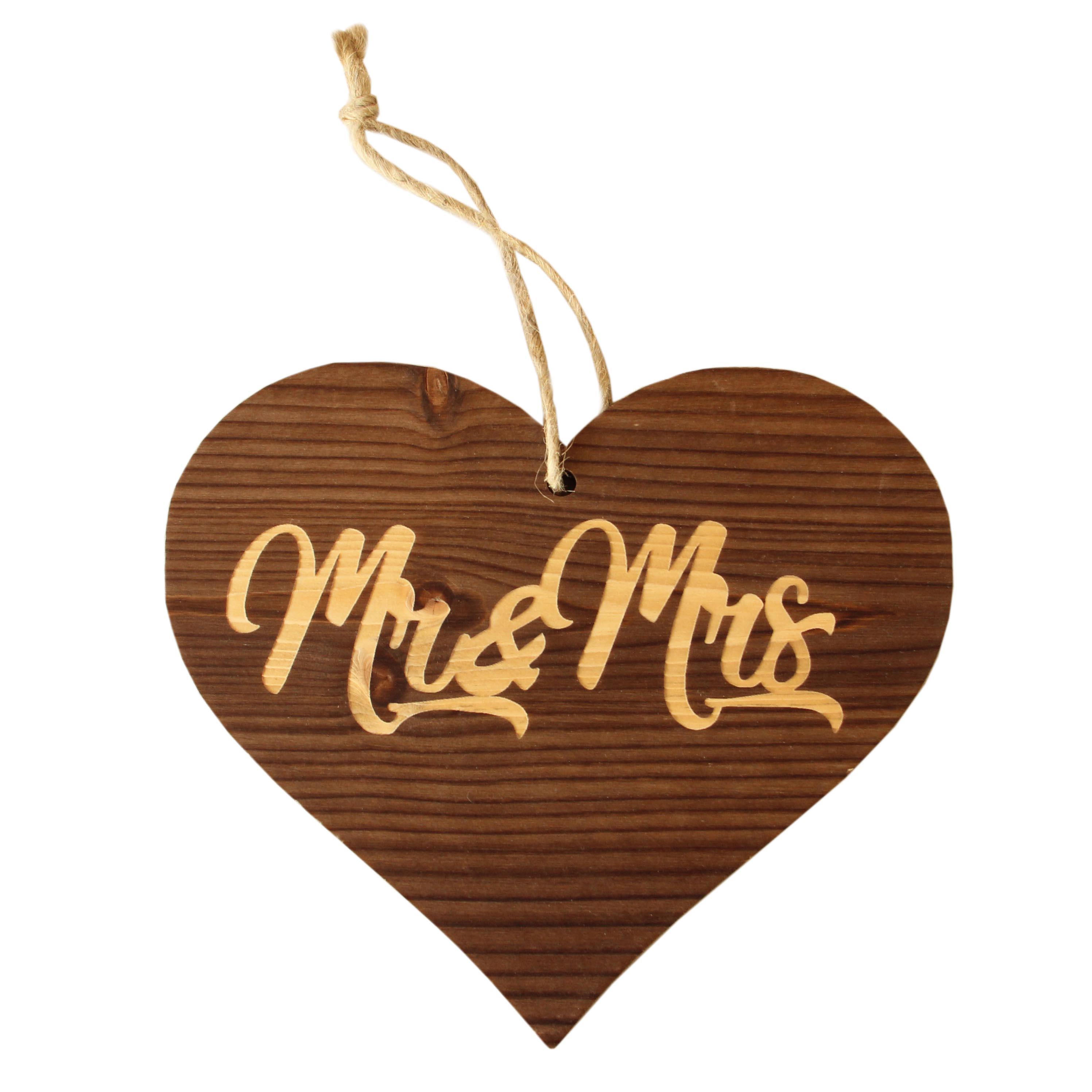 Herzanhänger Mr Mrs