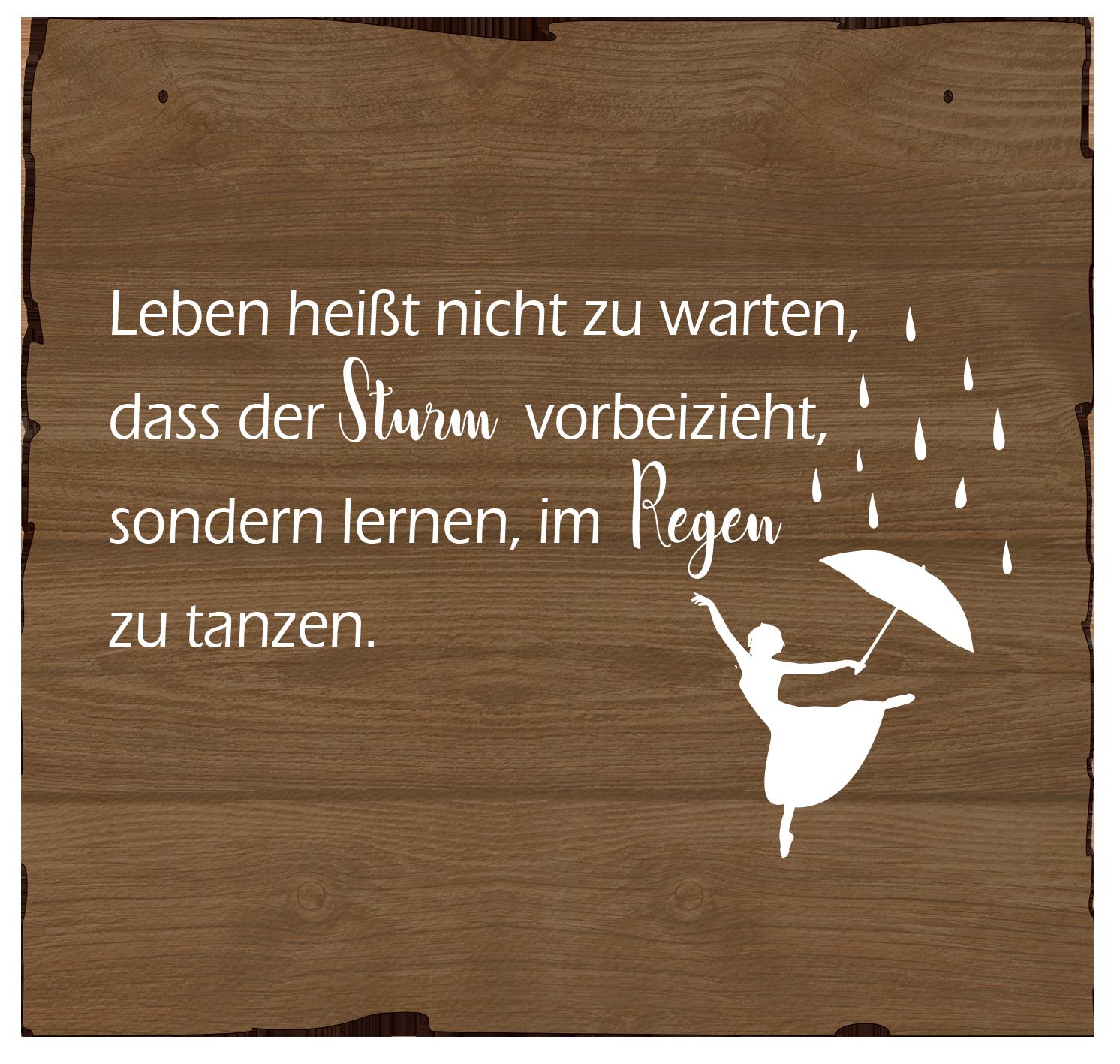 Wandbild Regen tanzen