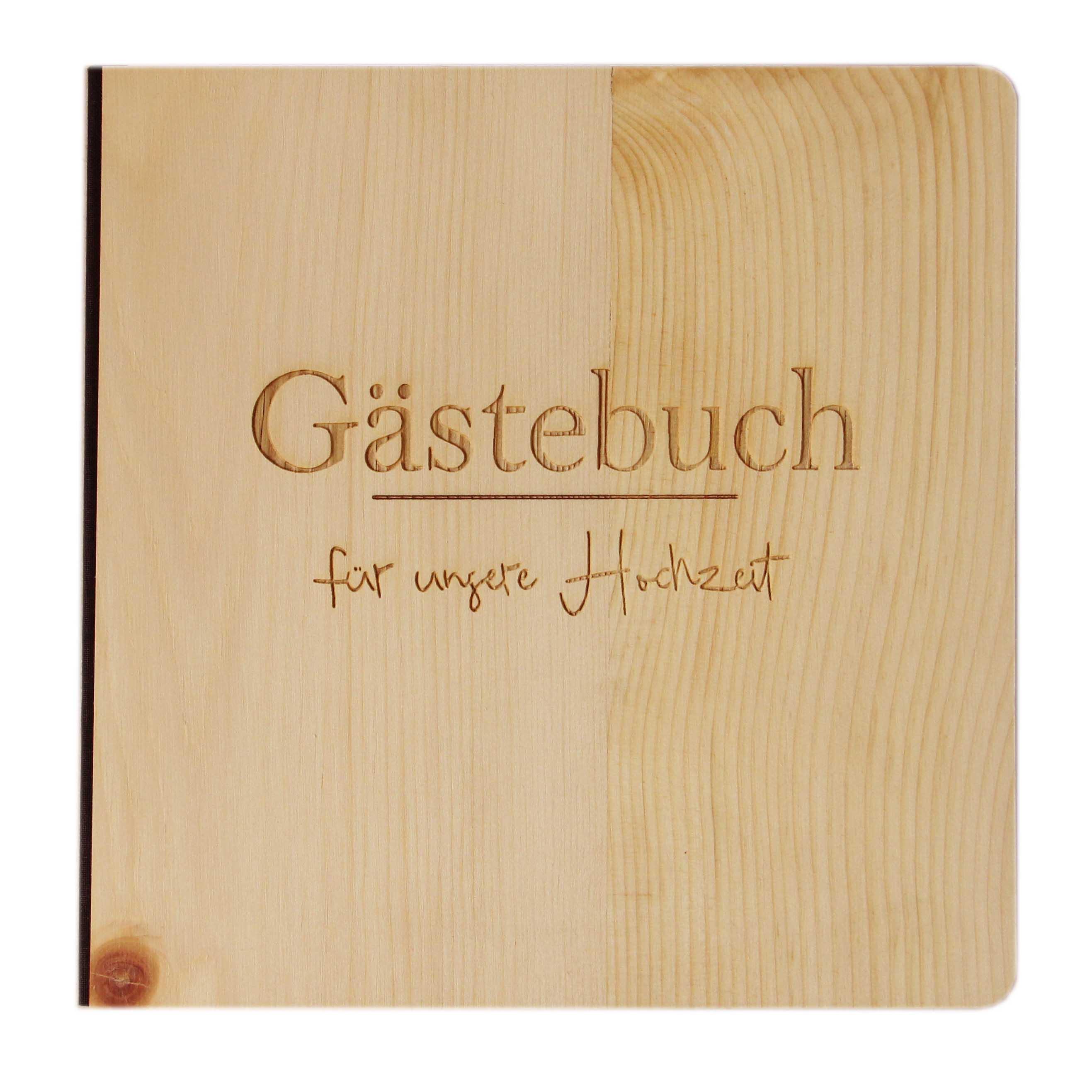 Gästebuch Zirbe Hochzeit